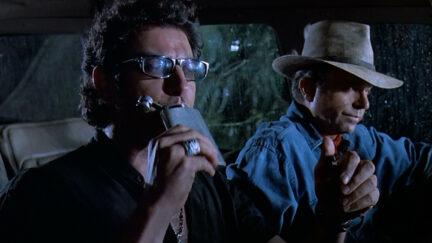 Jeff Goldblum as Ian Malcolm and Sam Neill as Alan Grant in Jurassic Park