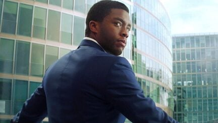 Chadwick Boseman as T'Challa in Civil War
