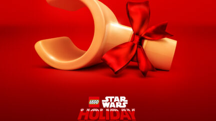 the star wars holiday special lego poster