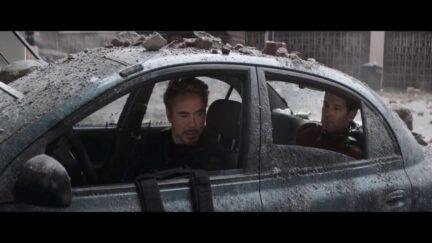 Robert Downey Jr. and Paul Rudd in Avengers Endgame