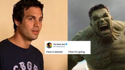 Mark Ruffalo and the Hulk in a How It's Going meme
