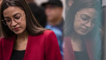 Rep. Alexandria Ocasio-Cortez (D-NY) attends a press conference