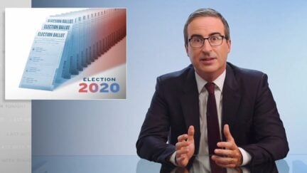 John Oliver discusses problems plaguing the 2020 election.