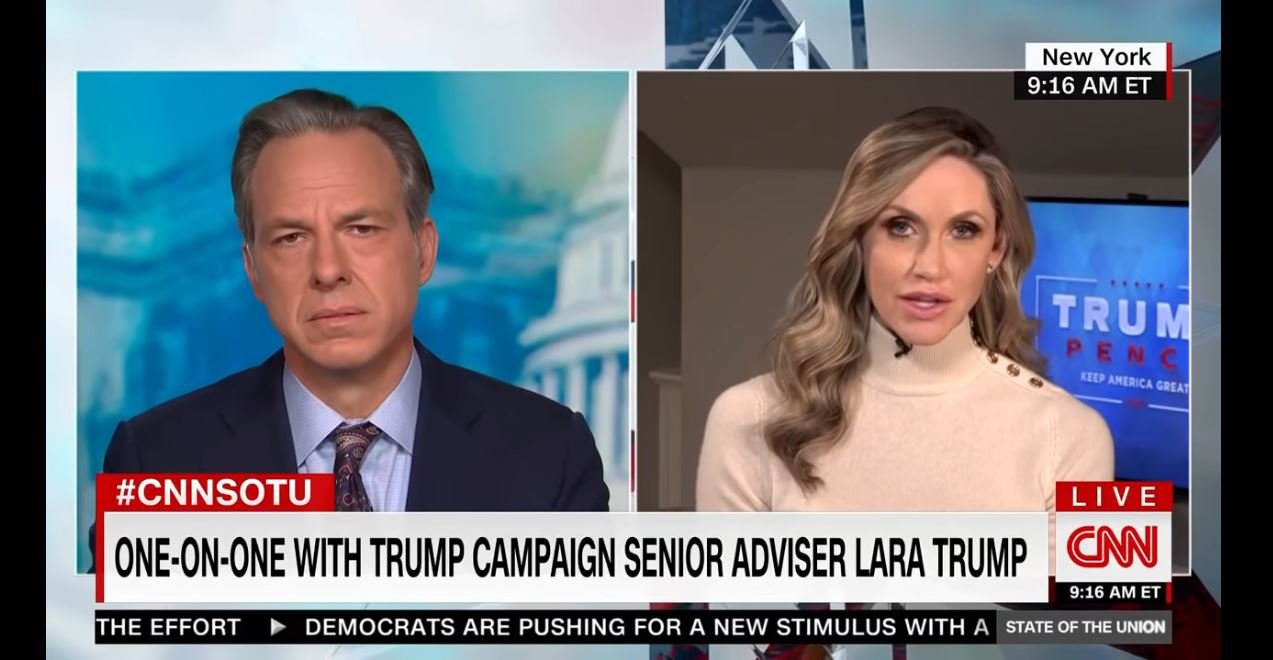 Jake Tapper Roasts Lara Trump for Defending the Harassment of Michigan Gov. Gretchen Whitmer