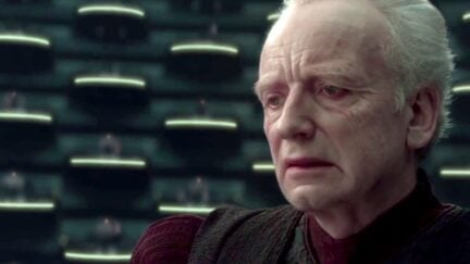 Palpatine says he loves democracy in Revenge of the Sith.