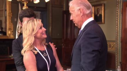Leslie Knope meeting Joe Biden