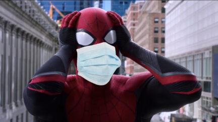 spider-man wearing 2 masks