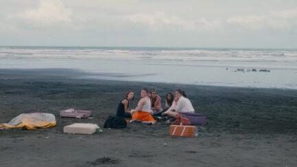 teen girls alone on an island