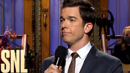John Mulaney performs his Saturday Night Live opening monologue.