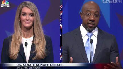 Kelly Loeffler and Raphael Warnock debate in Georgia.