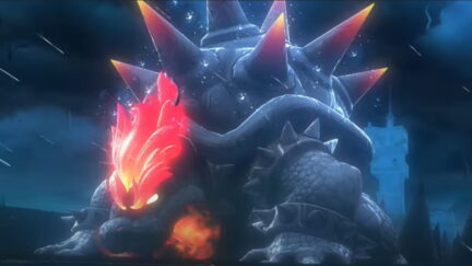 Screenshot from the trailer to Bowser's Fury