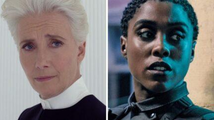 Emma Thompson in Men in Black International and Lashana Lynch in 007