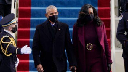 Michelle Obama and Barack Obama at the Biden/Harris inauguration.