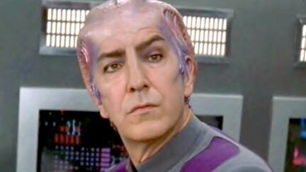 Alan Rickman as Alexander Dane in Galaxy Quest.