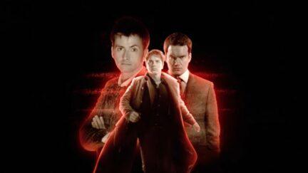 John Barrowman, Gareth David-Lloyd and David Tennant