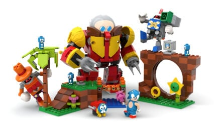 Image of the Sonic LEGO set concept done by Viv Grannell