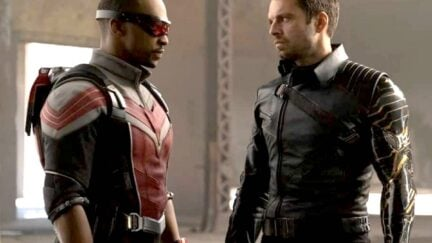 Sam Wilson and Bucky Barnes in The Falcon and the Winter Soldier on Disney+.