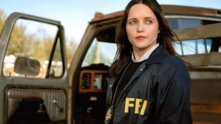 Rebecca Breeds as Clarice Starling, wearing an FBI jacket