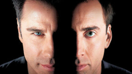 john travolta and nic cage in face/off poster