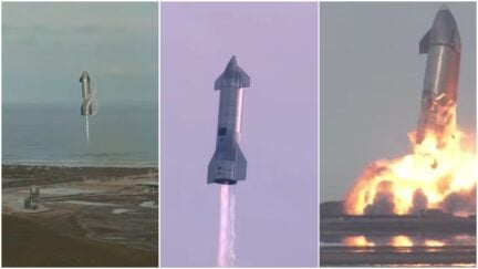 the spaceX sn 10 pocket takes off, lands and explodes