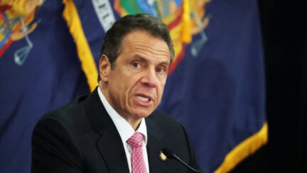 New York Governor Andrew Cuomo speaks during a Coronavirus Briefing