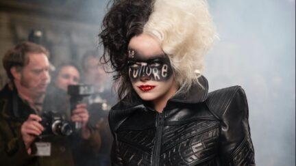 Emma Stone as Cruella de Vil in Disney's Cruella.