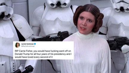 carrie fisher as leia twitter trend