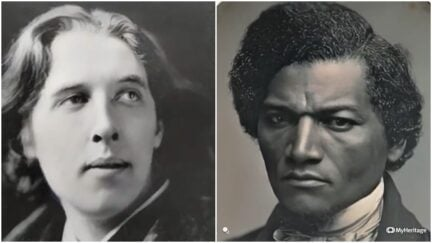 collage of the faces of oscar wilde and frederick douglass used in deep nostalgia animation