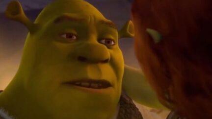 Shrek and Fiona in Shrek Forever After.