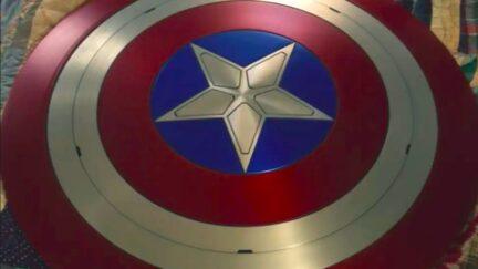 Captain America's shield in The Falcon and the Winter Soldier.