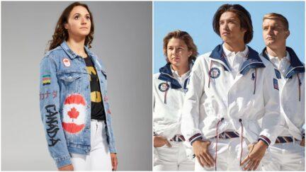 canada, usa olympic uniforms