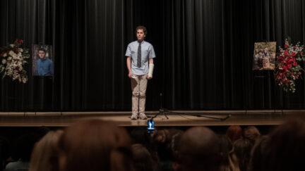 Ben Platt as Evan Hansen in Dear Evan Hansen
