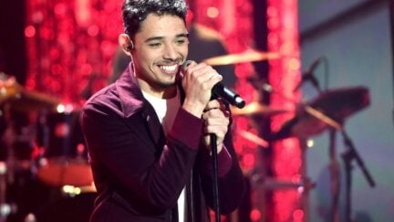 Anthony Ramos performs during Dick Clark's New Year's Rockin' Eve.