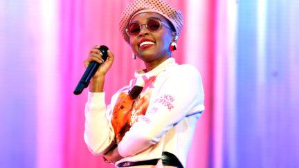 Janelle Monáe singing