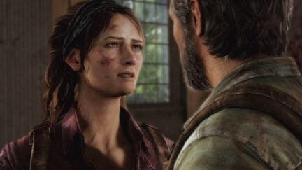 Tess and Joel in the Last of Us