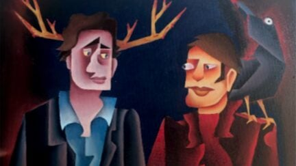 Painting of Will and Hannibal from Hannibal wins congressional art competition
