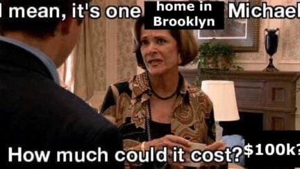 A meme of Lucille Bluth looking disdainful with the text