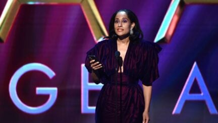 PASADENA, CALIFORNIA - FEBRUARY 22: Tracee Ellis Ross accepts Outstanding Actress in a Comedy Series for