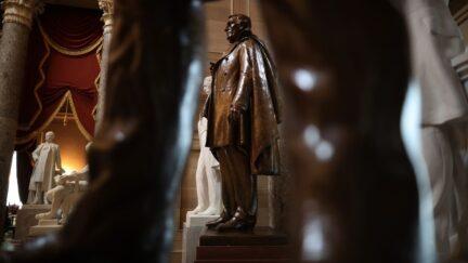 Confederate statue of Jefferson Davis, president of the Conferate states.