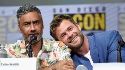 Chris Hemsworth and Taika Waititi being cute