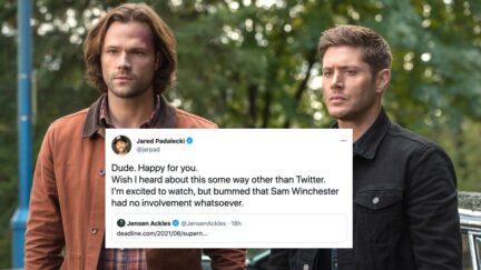 Supernatural stars Jared Padalecki and Jensen Ackles as Sam and Dean