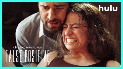 Ilana Glazer as Lucy giving birth in False Positive.