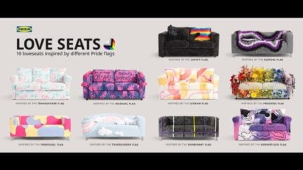 Ikea pride couch selection