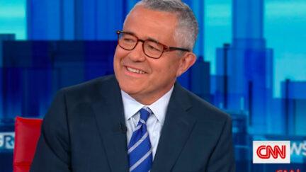Jeffrey Toobin grins on CNN.
