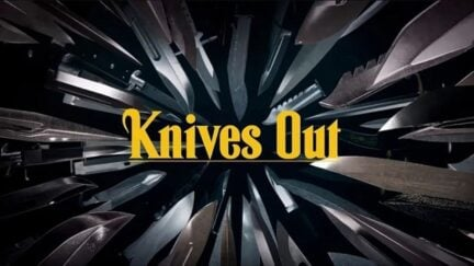 Knives Out title screen.