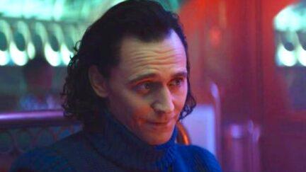 Tom Hiddleston as Loki in episode 3