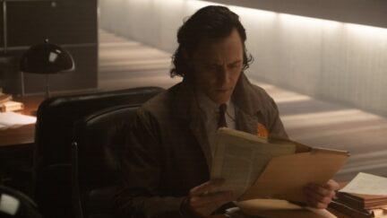 Loki reads files in Loki episode two