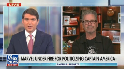 Fox News talking about Captain America