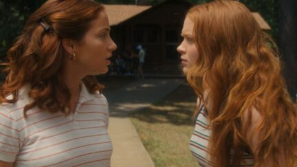 Emily Rudd and Sadie Sink in Fear Street Part Two: 1978.