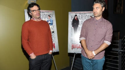 ilmmaker/Actor Jemaine Clement and Taika Waititi attend the New York special screening of